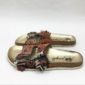 Free People 40 10 Tapestry Sandals Bali Slides